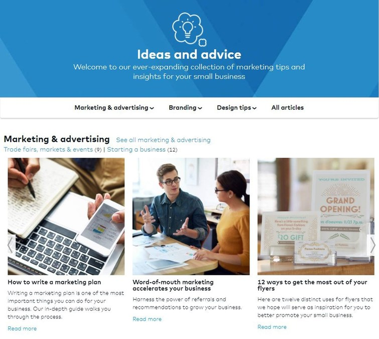 vistaprint launches ideas advice hub for small and micro