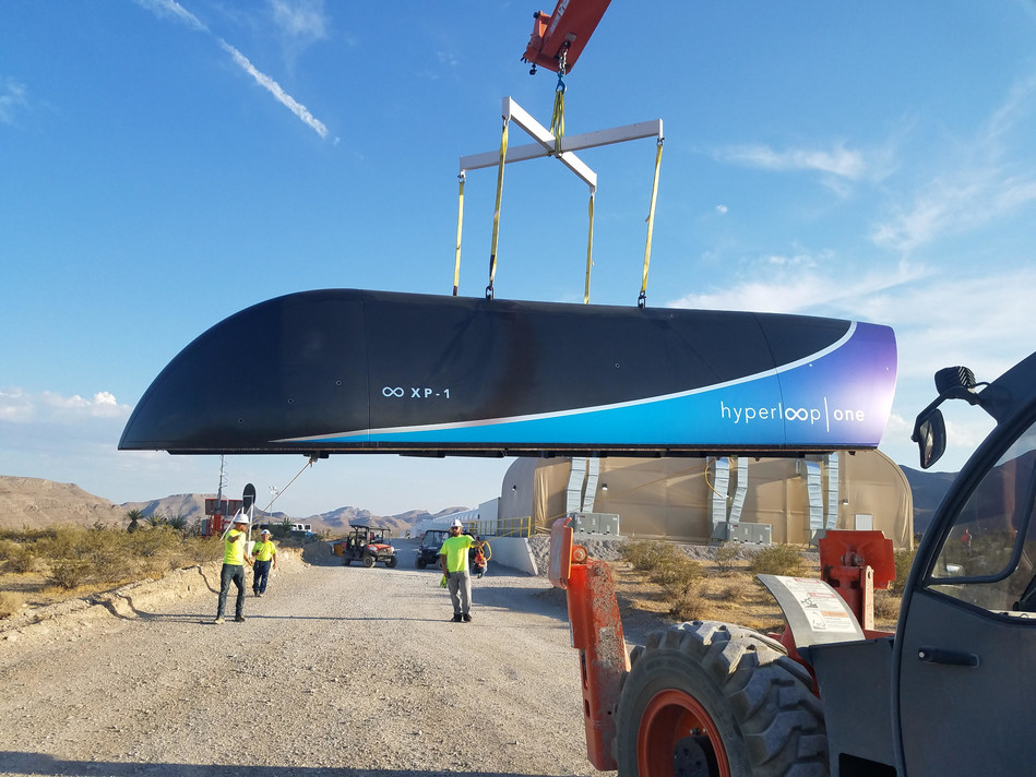 Hyperloop One tests world's first full systems Hyperloop (PRNewsfoto/Hyperloop One)