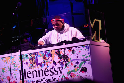 NEW YORK, NY - JULY 11: Super producer DJ Mustard performs at the Hennessy V.S Limited Edition by JonOne Launch Party at Terminal 5 on July 11, 2017 in New York City. The Limited Edition release by urban artist JonOne, which features a colorful, vibrant design, is the seventh in an ongoing series of collaborations between Hennessy V.S and several internationally renowned artists. (Photo by Ilya S. Savenok/Getty Images for Hennessy)