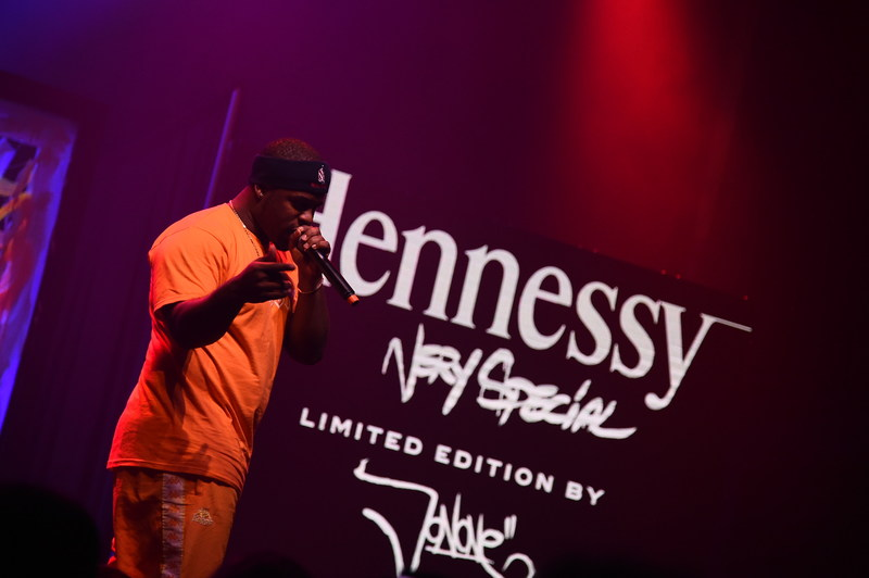 NEW YORK, NY - JULY 11: Harlem rapper A$AP Ferg performs at the Hennessy V.S Limited Edition by JonOne Launch Party at Terminal 5 on July 11, 2017 in New York City. The Limited Edition release by urban artist JonOne, which features a colorful, vibrant design, is the seventh in an ongoing series of collaborations between Hennessy V.S and several internationally renowned artists. (Photo by Ilya S. Savenok/Getty Images for Hennessy)