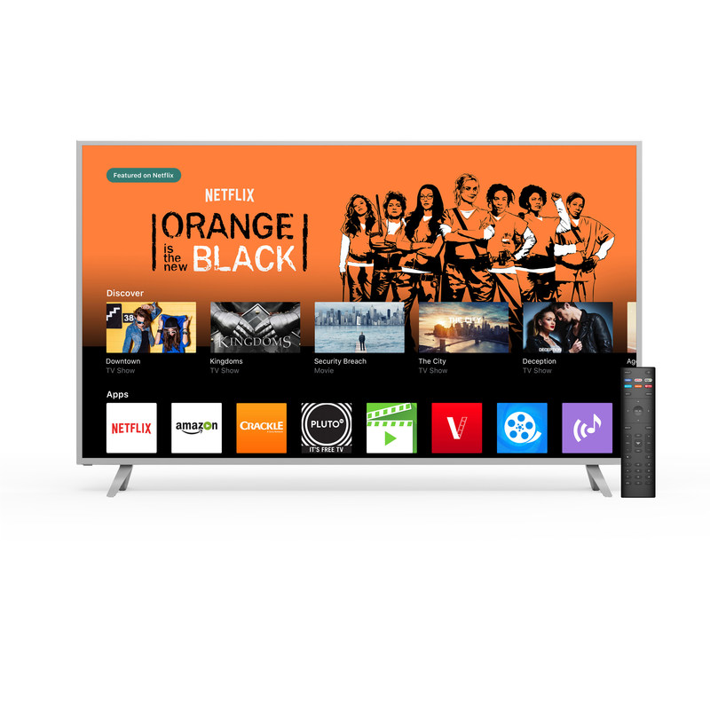 VIZIO SmartCast TV Launches in Canada to bring apps to the big screen for quick access to TV shows, movies and music.