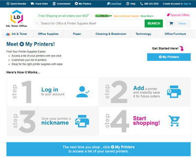 LD Products Makes Shopping Easier with 'My Printers'