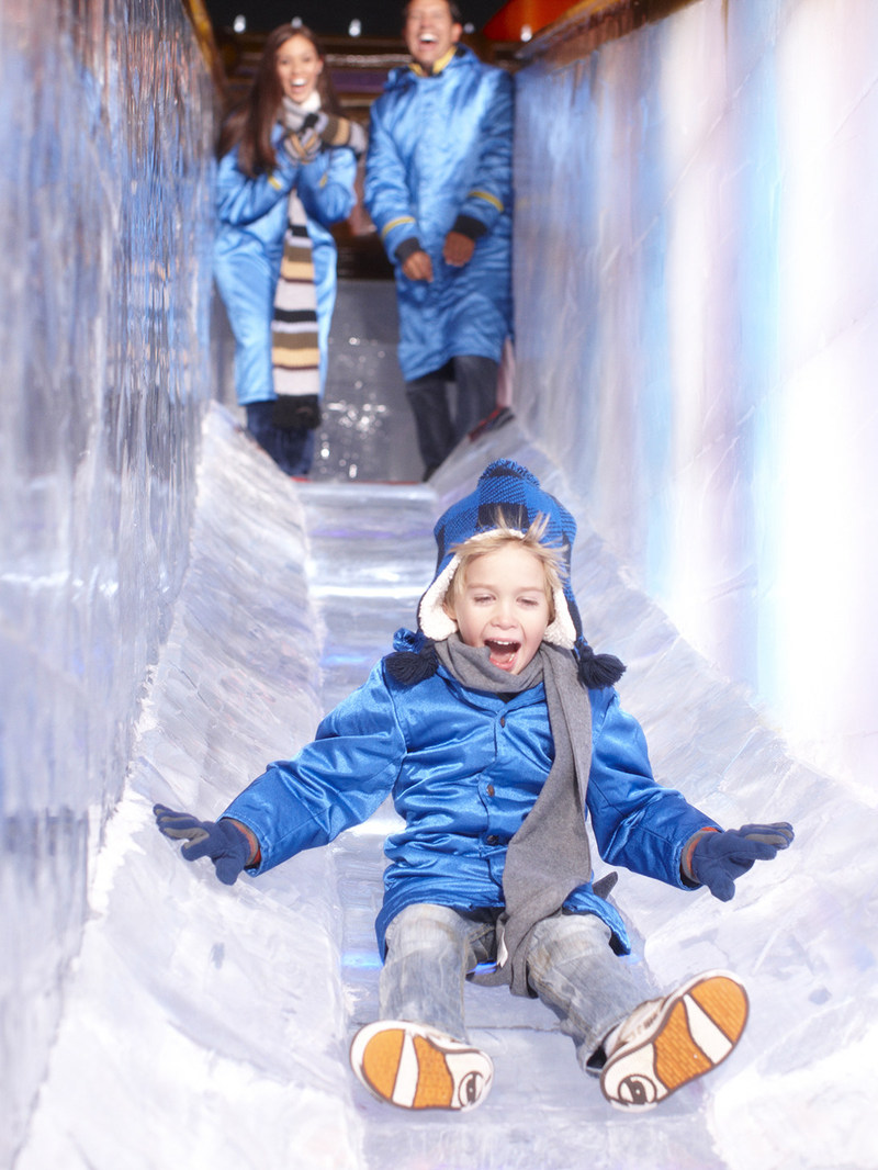 Two-story slides from ICE! at Gaylord Hotels