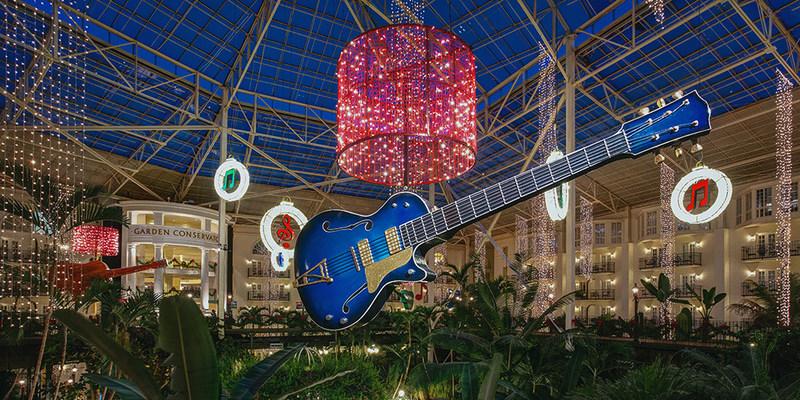 Larger-than-life holiday décor at Christmas at Gaylord Hotels