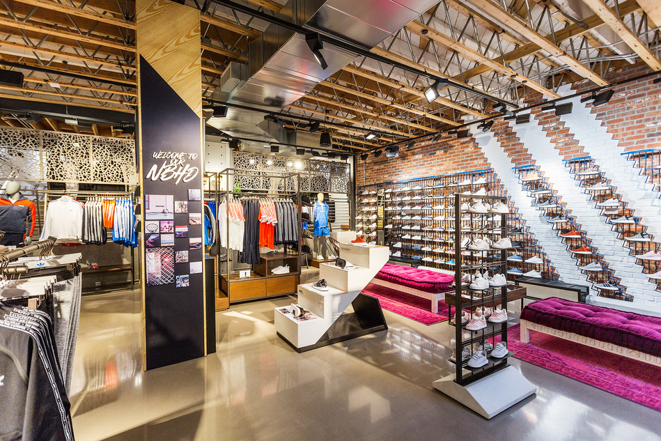 Inside adidas Store on Abbot Kinney in Venice Beach, Calif.
