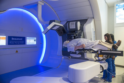 Bill Baker receives proton therapy treatment at Beaumont Hospital in Royal Oak, Michigan.