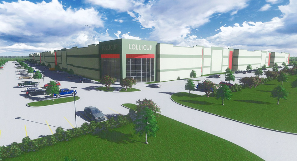 Rendering of Lollicup USA manufacturing plant in Rockwall, TX.
