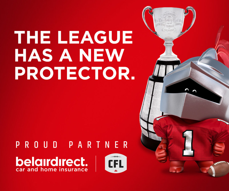 THE LEAGUE HAS A NEW PROTECTOR. (CNW Group/belairdirect)