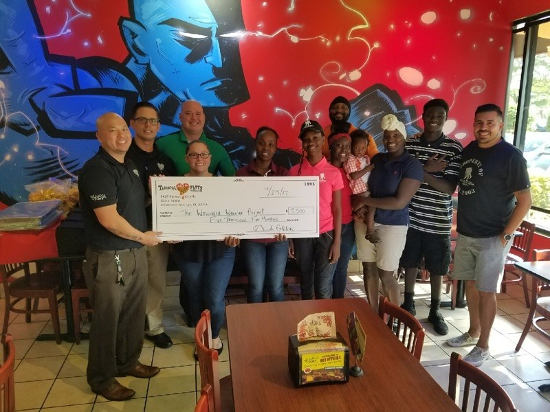 Wounded warriors recently gathered for a dinner and pottery night hosted by Tijuana Flats in partnership with Wounded Warrior Project.
