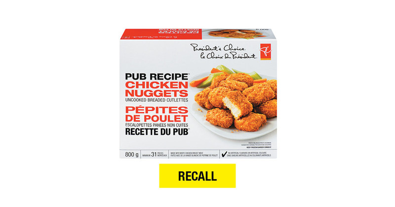 President's Choice Pub Recipe Chicken Nuggets (CNW Group/Loblaw Companies Limited)