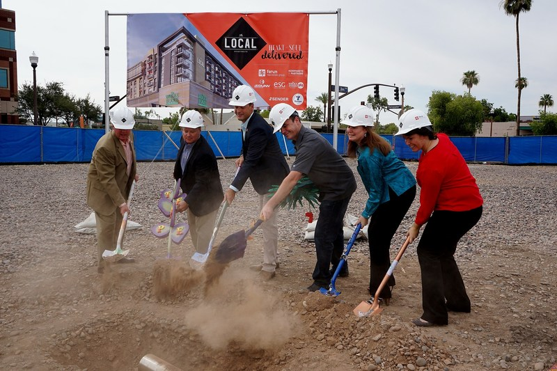 """Tempe's """"The Local"""" breaks ground with a time capsule ceremony."""