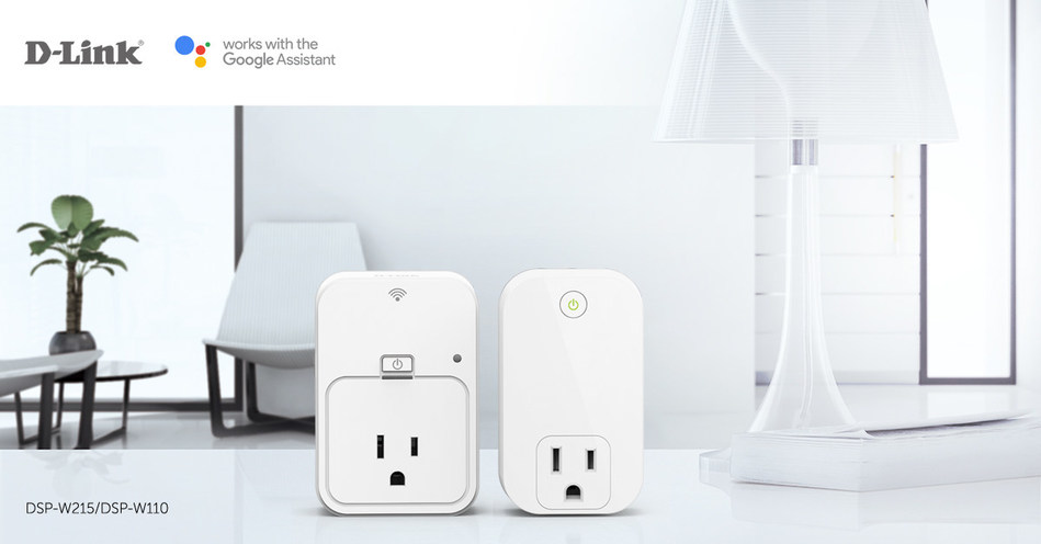 D-Link Smart Plugs work with the Google Assistant (PRNewsfoto/D-Link)