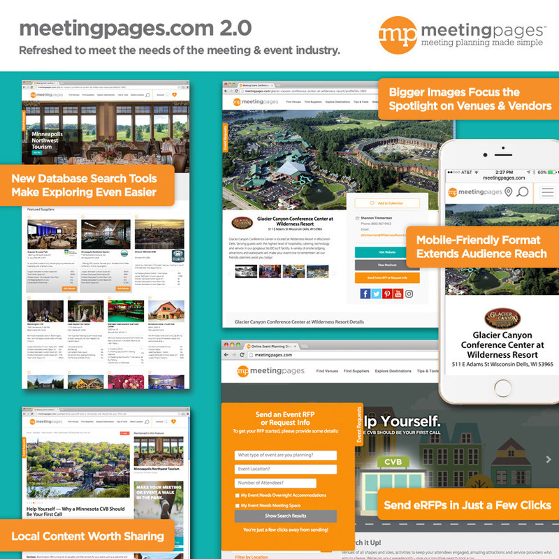 Introducing meetingpages.com 2.0 Refreshed to meet the needs of the meeting & event industry.