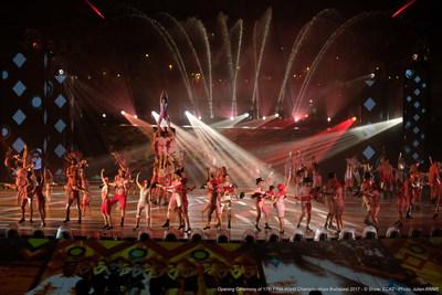 Opening Ceremony of 17th FINA World Championships Budapest 2017 -© Show: ECA2 -  Photo: Julien PANIE (PRNewsfoto/ECA2)