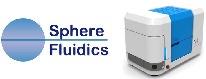 Sphere Fluidics' Logo (left) and The Cyto-Mine® System (right) (PRNewsfoto/Sphere Fluidics Limited)