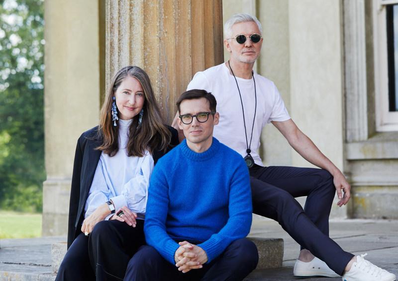 H&M Creative Advisor Ann-Sofie Johansson, Designer Erdem Moralıoğlu and Filmaker Baz Luhrmann.