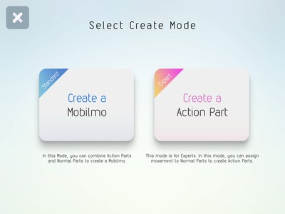 Two creation modes for beginners and advanced users
