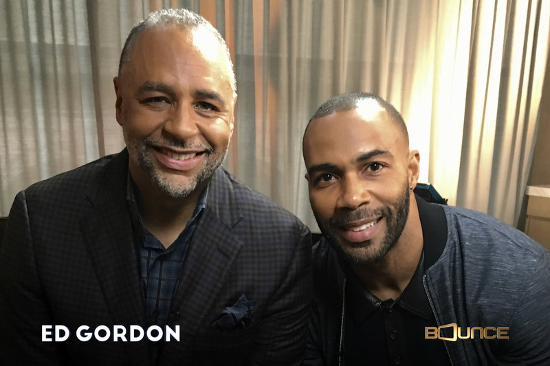Power's Omari Hardwick (R) talks with Ed Gordon (L) about the hit series, the relationship with his wife and how he has handled fame in the social media era in an Ed Gordon celebrity special premiering Mon.  July 17 at 10:00 pm ET on Bounce.