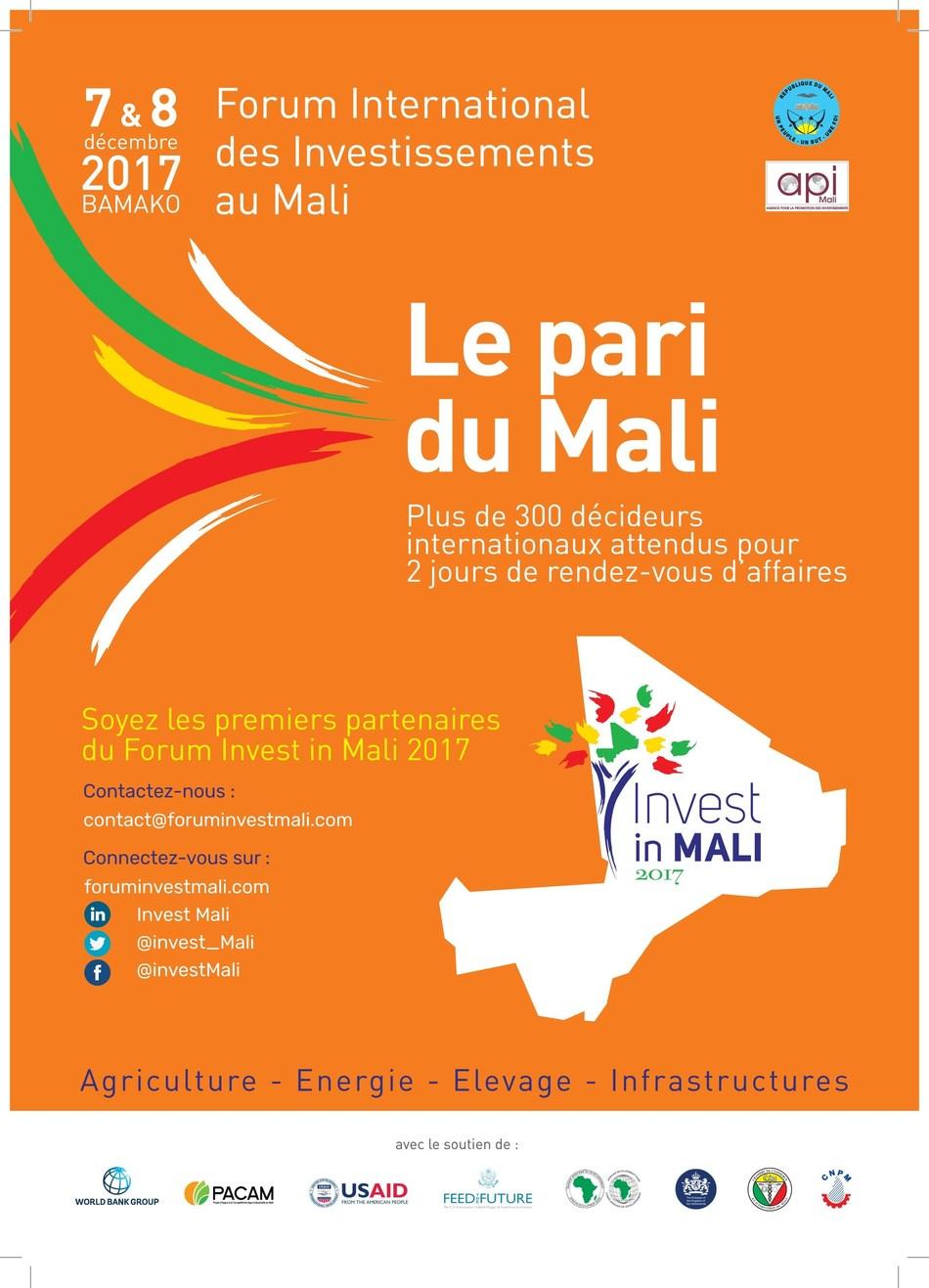 Forum Invest in Mali (PRNewsfoto/API-MALI)