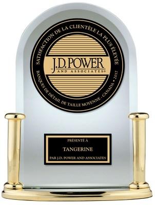 Tangerine arrive en tête du classement de J.D. Power sur la satisfaction de la clientèle pour une 6e année d'affilée (Groupe CNW/Tangerine)