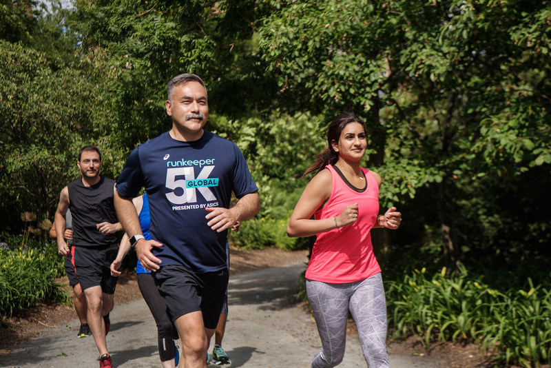 Runkeeper inspires runners across the world to get outside and log a 5K on July 15 and 16, for the fourth edition of the Global 5K presented by ASICS. (photo courtesy Runkeeper).