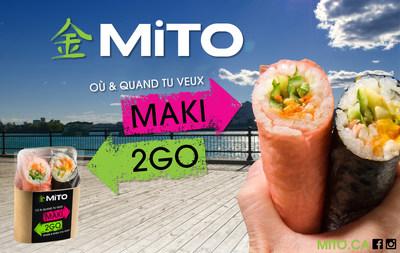 Le Maki2Go de MITO Sushi est un des gagnants du concours Grand Prix Canadien des nouveaux produits alimentaires 2016. (Groupe CNW/MITO Sushi)