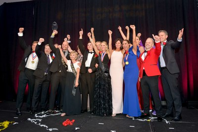 The Leukemia & Lymphoma Society's 2017 Man & Woman of the Year candidates celebrate their fundraising success in Charlotte, NC.
