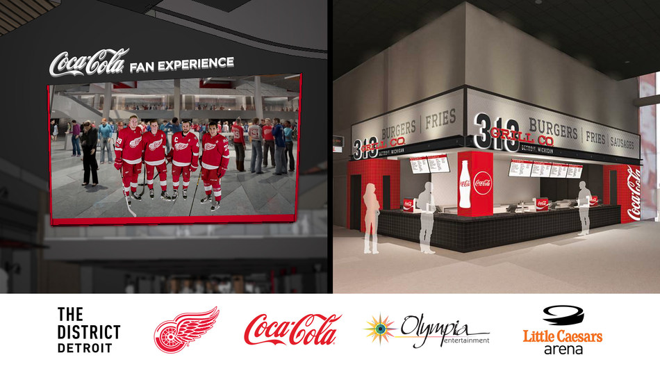Partnership includes designation as exclusive beverage provider of Detroit Red Wings, Little Caesars Arena, Fox Theatre, Hockeytown Cafe, plus Red Wings Opening Night and fan experience sponsorships