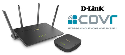 D-Link, Canada's leader in home networking, delivers Canadians new Covr™ AC3900 Whole Home Wi-Fi System. (CNW Group/D-Link)