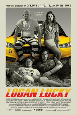 "Regal Entertainment Group announces ""Logan Lucky"" Variety-The Children's Charity of Eastern Tennessee Benefit Screening at Regal Pinnacle 18 in Knoxville on August 9.  Source: Fingerprint Releasing & Bleecker Street"