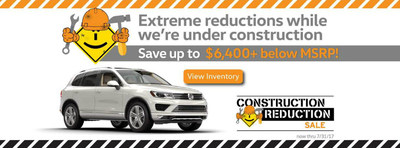 Capistrano Volkswagen is running a Construction Reduction Event, in which customers can get up to $6,440+ below the MSRP on VW models.