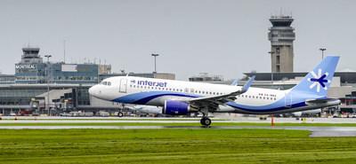 Interjet célèbre le nouveau service aérien entre Montréal et le Mexique. Le nouveau service sans escale reliera Montréal à Mexico et à Cancun pour les voyageurs d'affaires et de loisir. (Groupe CNW/Aéroports de Montréal)
