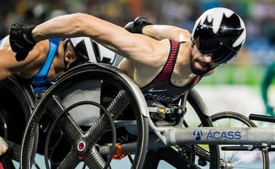 Le champion de monde Brent Lakatos (Dorval, Qué.) competionnera aux championnats du monde de para-athlétisme à Londres. Photo: Dave Holland / Comité paralympique canadien (Groupe CNW/Comité paralympique canadien (CPC))