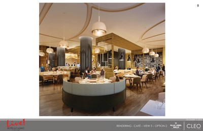 Credit: Live! Casino & Hotel / An interior rendering of David's Cafe by Todd English, named after The Cordish Companies' Chairman David Cordish, which will feature an eclectic menu of culinary creations inspired by David's global travels and favorite tastes.
