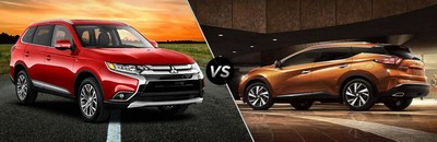 Libertyville Mitsubishi compares the Outlander to the Nissan Murano in a recent research page.