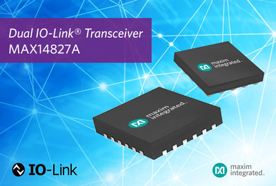 Maxim Integrated's MAX14827A dual IO-Link® transceiver