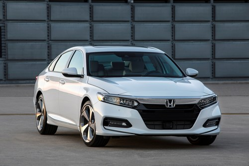 The completely new 2018 Honda Accord was revealed to media in Detroit today. The dramatically restyled and re-imagined new Accord features an available new 2.0L turbo engine paired with either a new 10 speed automatic or 6 speed manual transmission, and an upscale new interior with a host of desirable features. The new Accord goes on sale this fall.