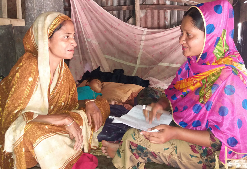 Programs in Bangladesh are addressing birth preparedness and educaiton.