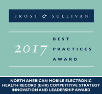 Frost & Sullivan recognizes CORAnet™ with the 2017 North American Competitive Strategy Innovation and Leadership Award. (PRNewsfoto/Frost & Sullivan)