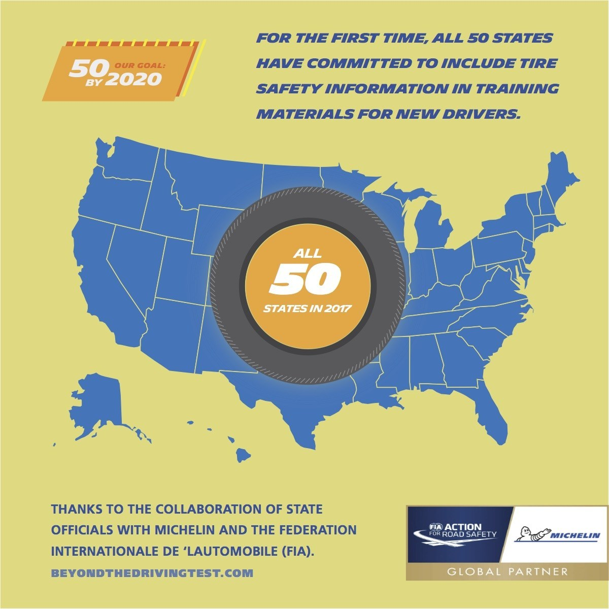 Michelin, FIA Improve Tire-Safety Education For New Drivers In All 50 States