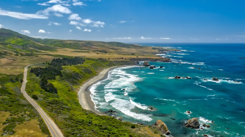 Some of the best beaches can be found along the CA HIghway 1 Discovery Route.
