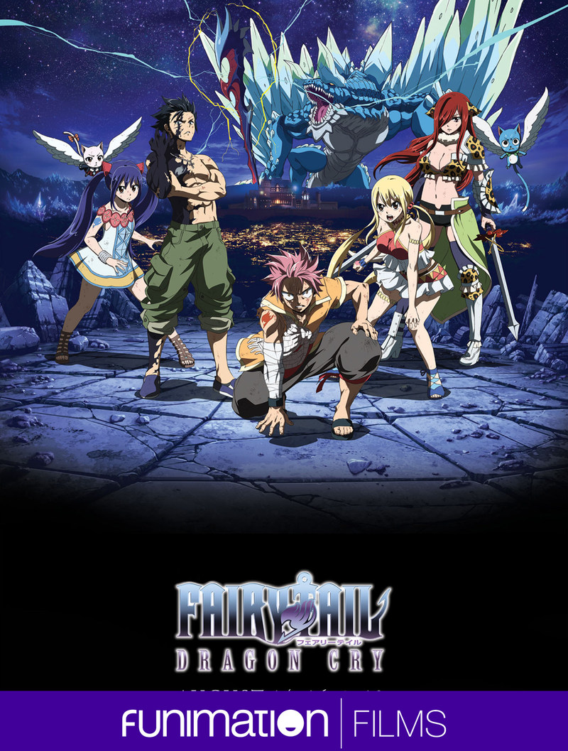 Fairy Tail: Dragon Cry key art image. Courtesy Funimation Films.