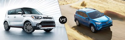 The Kia Soul vs Toyota RAV4 comparison page, is just one of many comparison pages created by the Greensboro area Kia dealer.