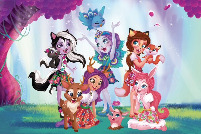 Enchantimals are a group of lovable girls and their animal besties.