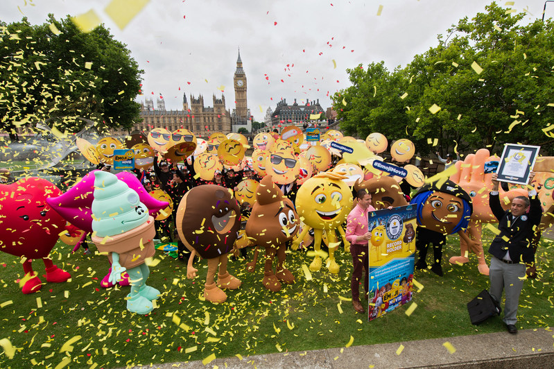 "A World First!  ""The Emoji Movie"" Sets A Brand-New Guinness World Records™ Title To Celebrate World Emoji Day!"