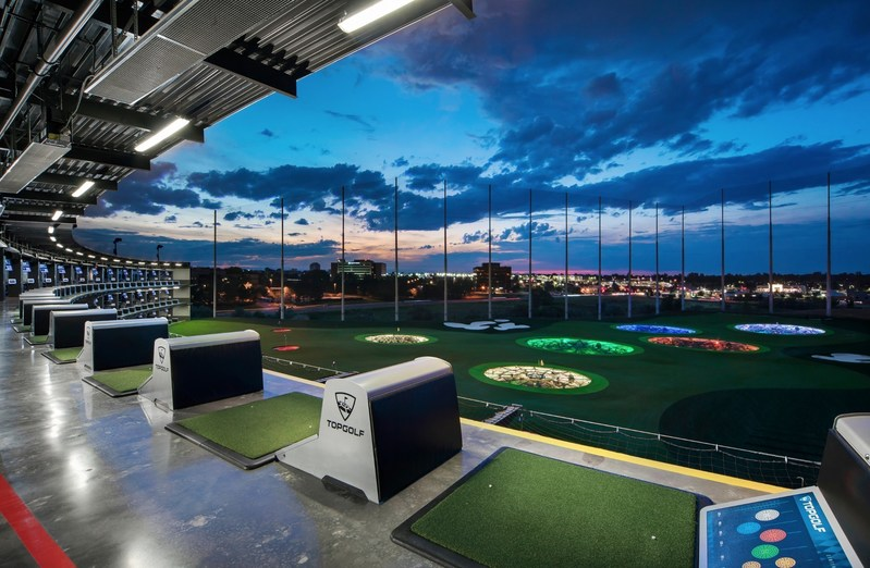 Topgolf tee line and outfield in Centennial, CO (PRNewsFoto/Topgolf)