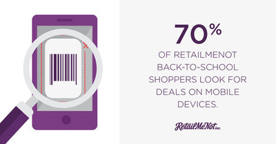 70% of RetailMeNot Back-to-School Shoppers Look for Deals on Mobile Devices