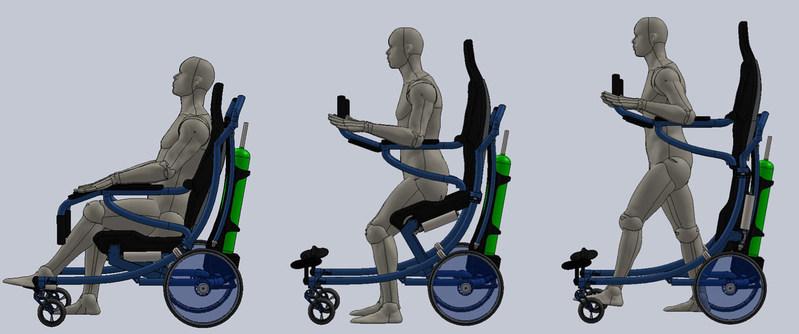 Active Body Wheelchair-Rollator