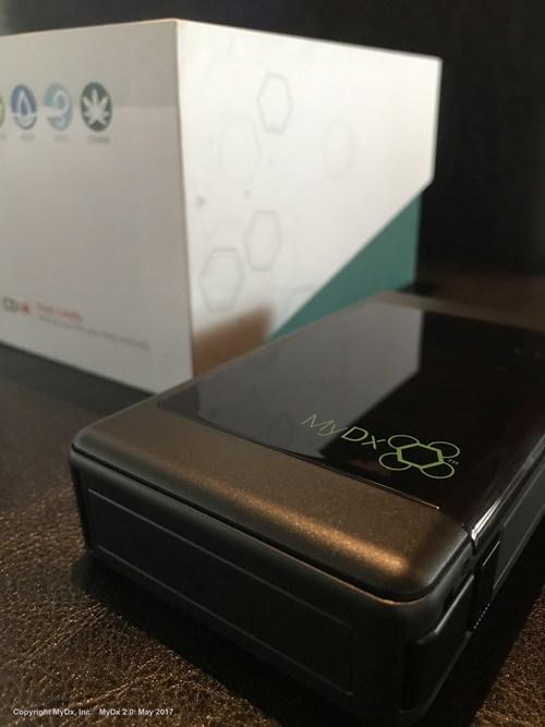 MyDx 2.0 Analyzer with CannaDx and AeroDx Sensor Compatibility (PRNewsfoto/MyDx, Inc.)