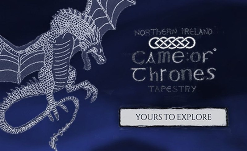 "Explore ""Game of Thrones Tapestry"" and share with friends using the official app. (PRNewsfoto/Tourism Ireland)"